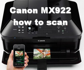 Canon MX922 Network scan settings