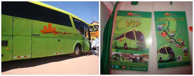 ônibus turístico entre Cusco e Puno