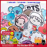 Sticker ban nhạc bts