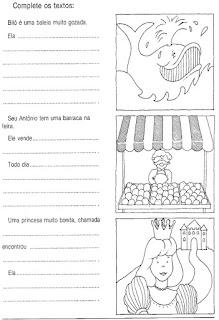 Produção texto alfabetização