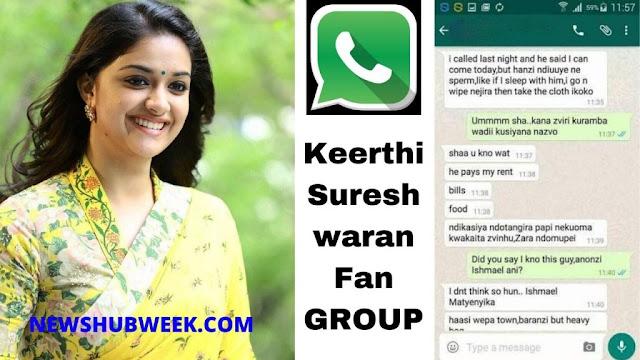Join 10+ Keerthi Suresh Fans WhatsApp Groups Links New Update