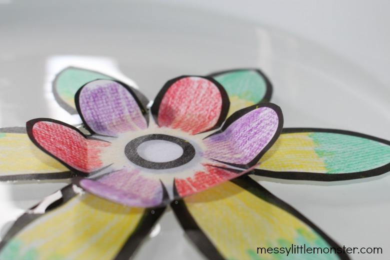 blooming paper flowers trick