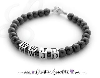 Hematite WWJD Bracelet