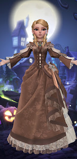 Brown casual Victorian gown