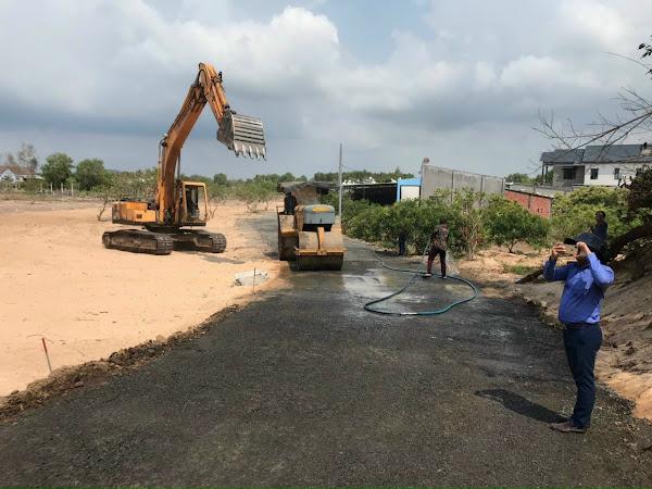 tiến độ thi công hạ tầng dự án sea view garden lộc an