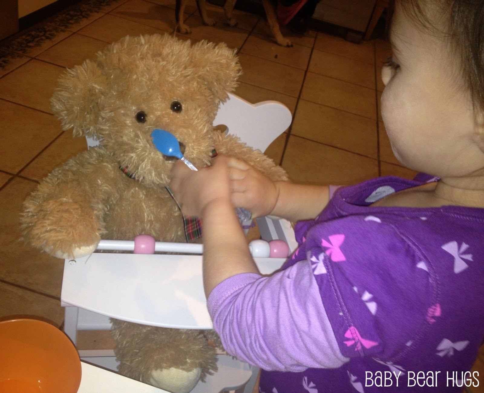 kidkraft doll high chair dining room covers diy baby bear hugs great holiday gift lil 39