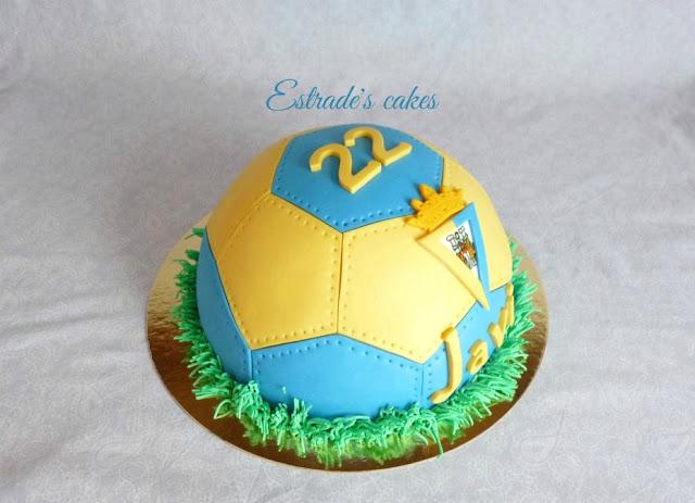Tarta balón del Cádiz CF 4