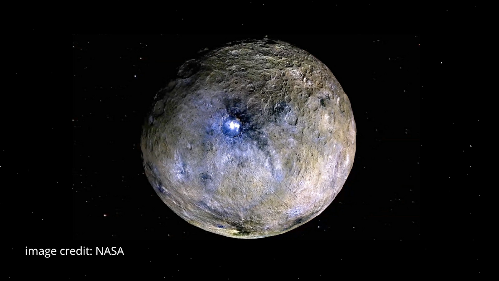 Occator crater of Ceres dwarf planet
