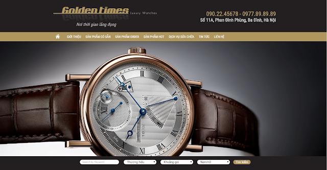 Dự án thiết kế Web đồng hồ Goldentimes.vn