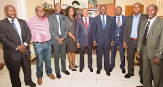 M.P Raphael Wanjala led Bungalangi team to Baba Raila Odinga. PHOTO Courtesy RAO