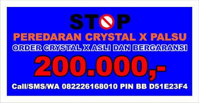 reaksi positif pemakaian crystal x asli bergaransi