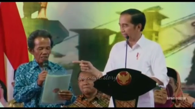 Tak Bisa Nahan Tawa,  Ditanya Jokowi Sertifikat Tanah Mau Dipake Apa? Dijawab Untuk Hutang ke Bank!
