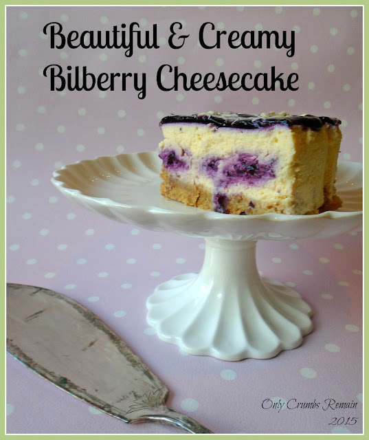 Bilberry & White Chocolate Baked Cheesecake Recipe