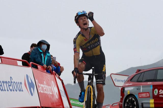 Primoz Roglic vibra com vitória que lhe deu a liderança da Vuelta a España