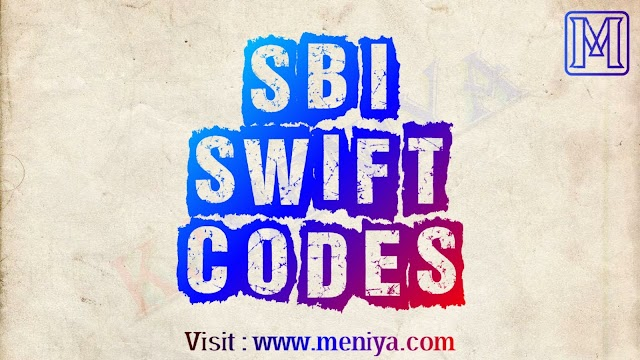 State Bank of India (SBI) SWIFT CODES