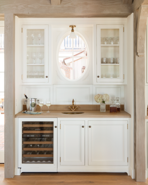 Butler pantry in French Country modern farmhouse kitchen by Giannetti Home - found on Hello Lovely Studio