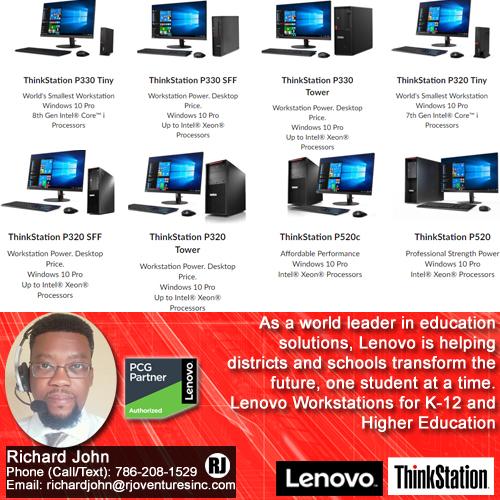 Lenovo Workstations for K-12 & Higher Education [RJOVenturesInc.com]