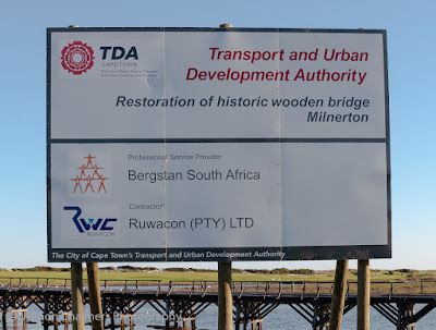 Construction Sign next to  Otto du Plessis Drive, Milnerton