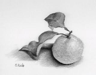 柚子 鉛筆スケッチ