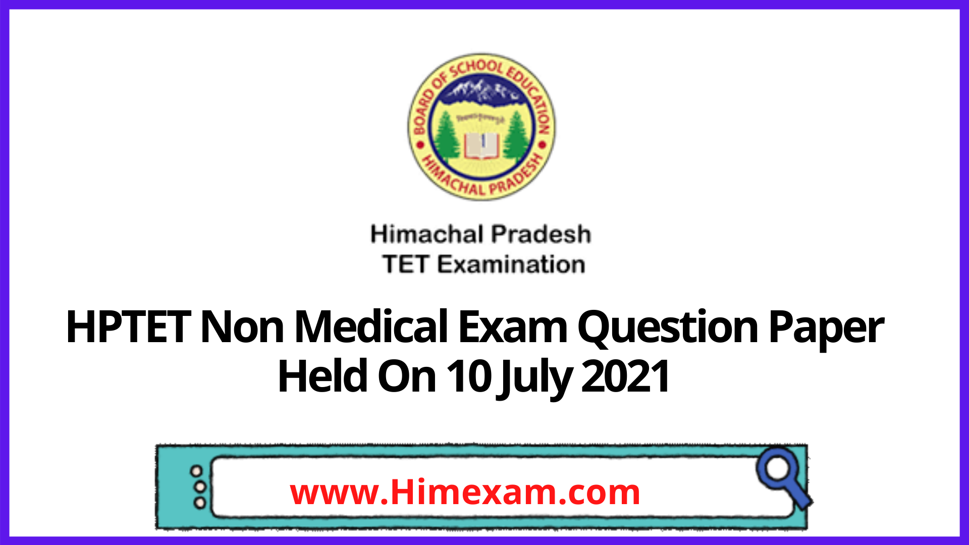 HPTET Nm Exam Question Paper Held On 10 July 2021