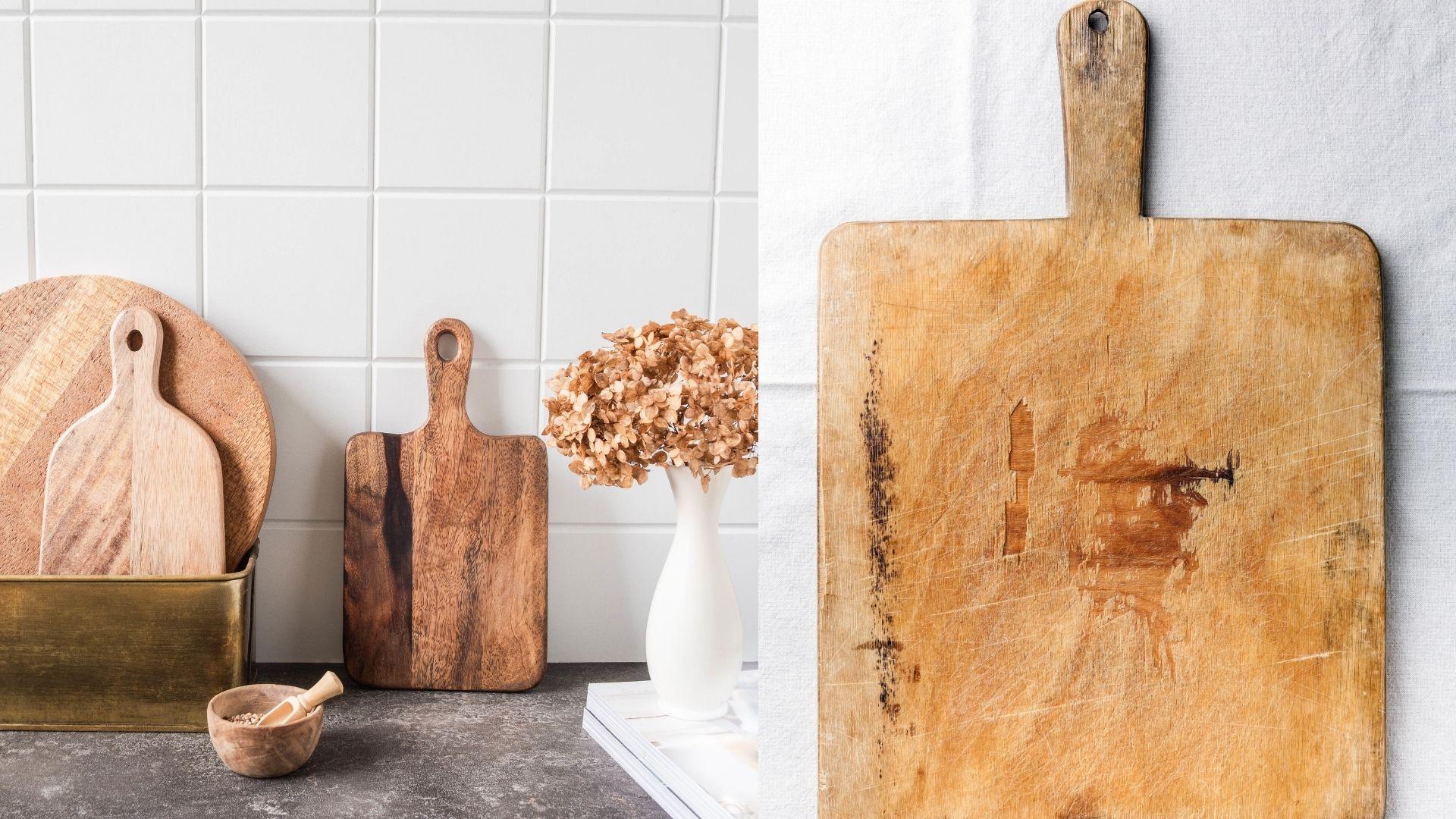 stare drewniane deski do krojenia