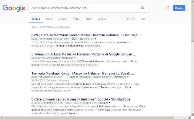 cara membuat konten menjadi nomor satu di Google