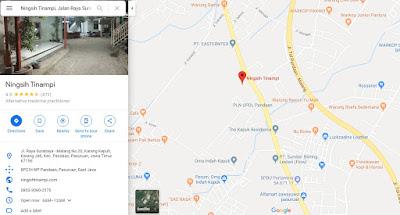 Lokasi pengobatan Ningsih Tinampi