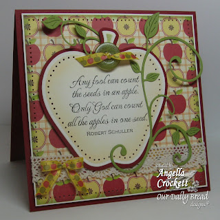 "Our Daily Bread designs ""Apple Seed"" Designer Angie Crockett"