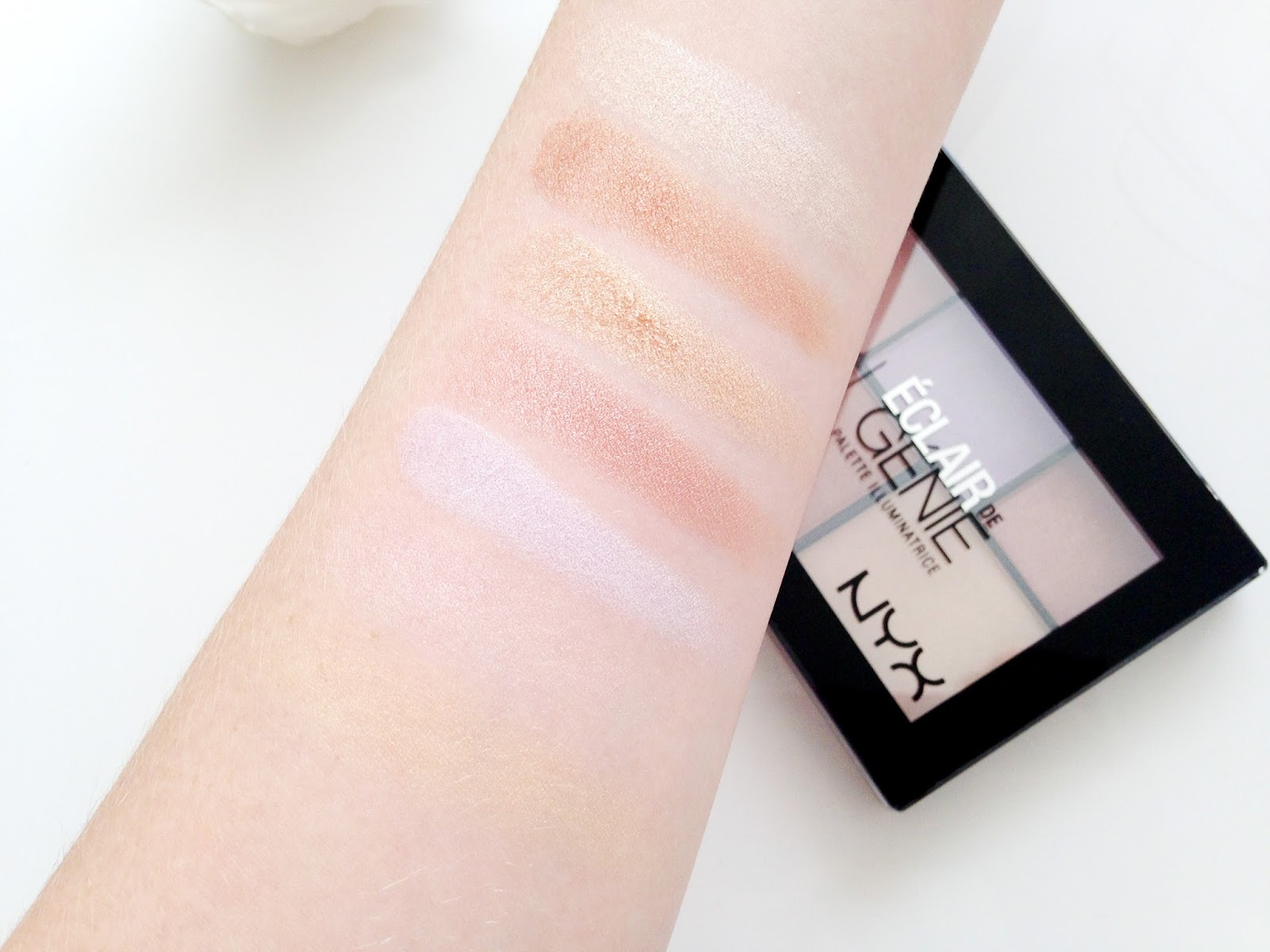 NYX Strobe of Genius Illuminating Palette Swatches