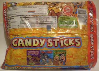 Back of Toon Trio Candy Sticks bag