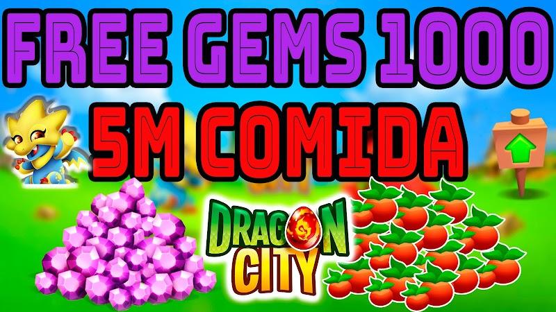 DRAGON CITY HACK - GANA 1000 GEMAS & 5M DE COMIDA GRATIS