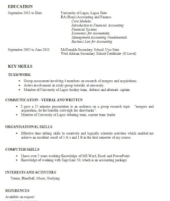 How To Write First Cv No Experience