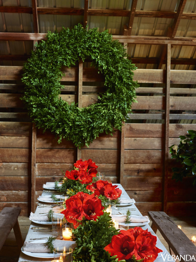 image result for beautiful rustic barn decorated for Christmas elegant sophisticated interior design