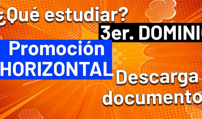 Que estudiar para PROMOCION HORIZONTAL: tercer dominio