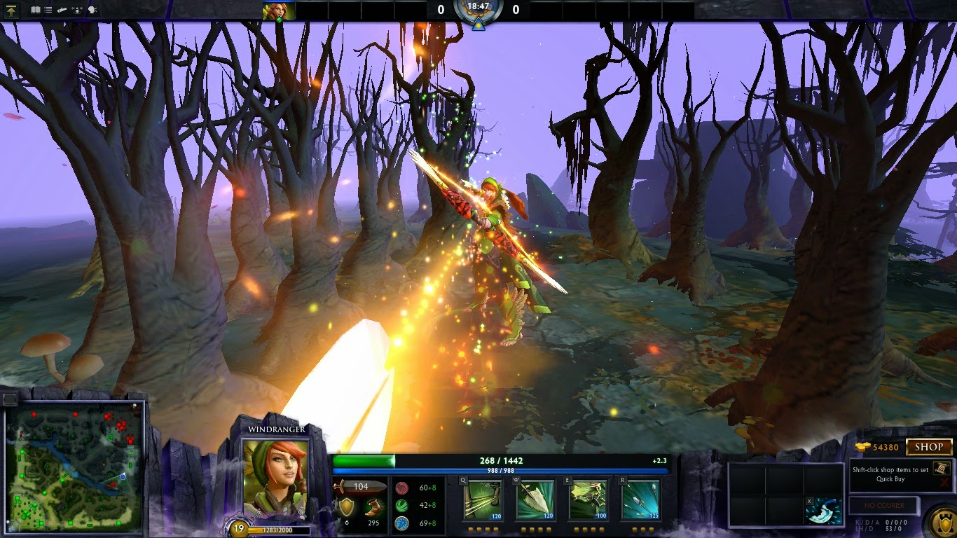 Dota 2 Mod Gravelmaw Deep Magma Immortal Items: Dota 2 Over Mod : Windranger LAVA Effect (WTF Items