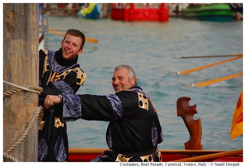 Costumes and fun, Boat Parade, Carnival, Venice, Italy - © Sunil Deepak