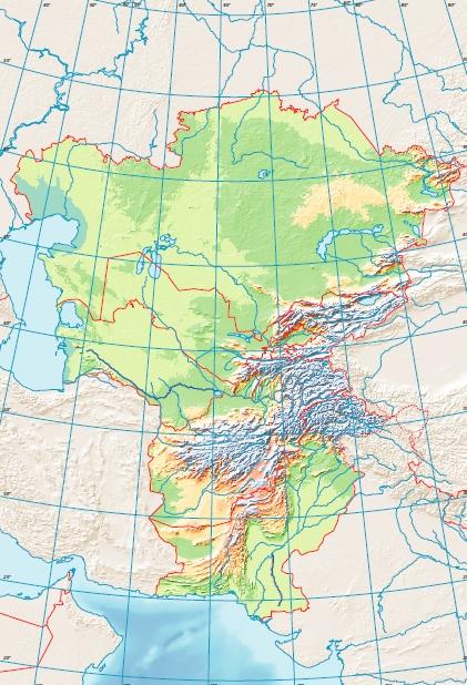 Peta Buta Asia Tengah