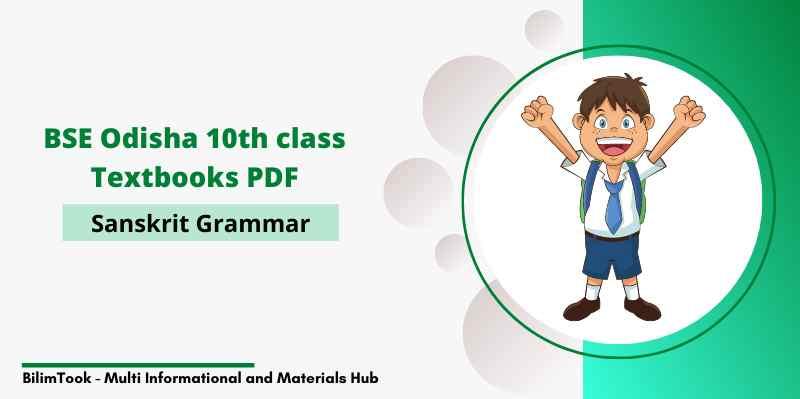 BSE Odisha Class 10th Sanskrit Grammar Book PDF Download
