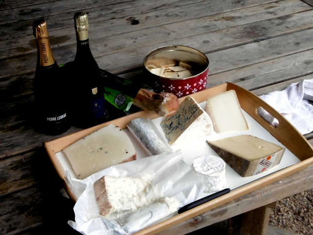 Cheese and champagne. Photo by Loire Valley Time Travel.