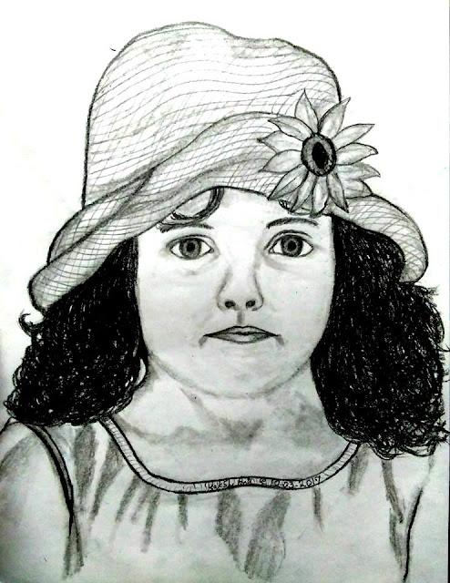 PENCIL DRAWING - LOVELY CHILD