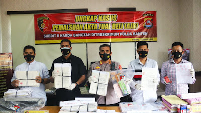 Ditreskrimum Polda Banten Tangkap Tersangka Pembuat AJB Palsu