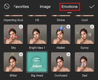 how to add a big head effect video