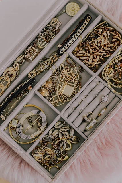 My Stackers soft pink jewellery box blogger shot