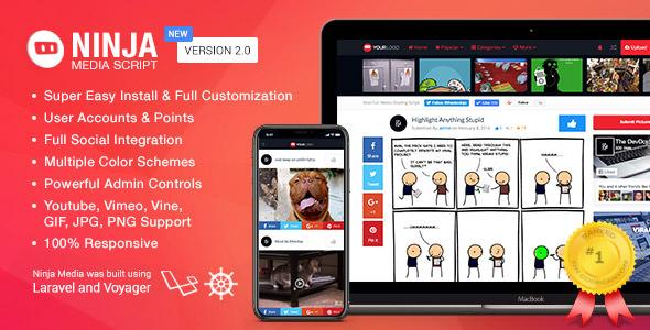 Ninja Media Script v2.0.2 - Viral Fun Media Sharing Site