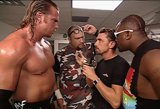 WWE / WWF Summerslam 2001 - Michael Cole interviews Test & The Dudley Boyz