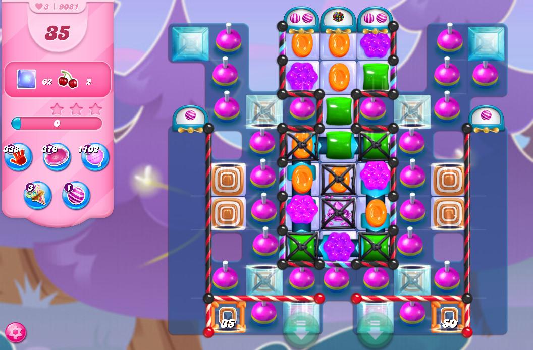 Candy Crush Saga level 9081