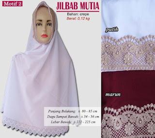 Jilbab cutting plus renda model baru - mutia motif 2