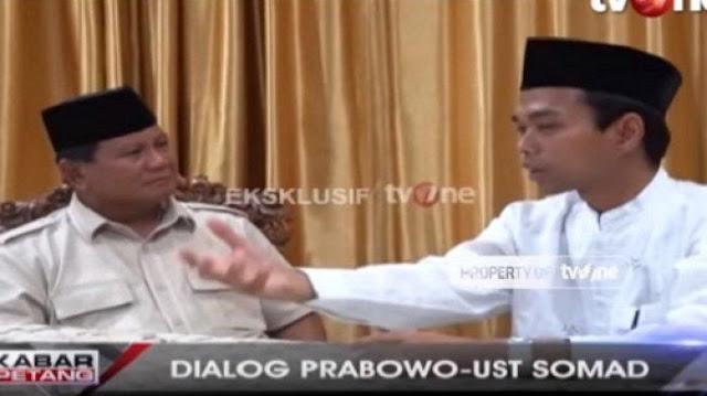 UAS Ibaratkan Prabowo Buah Durian yang Sedang Harum dan Mekar