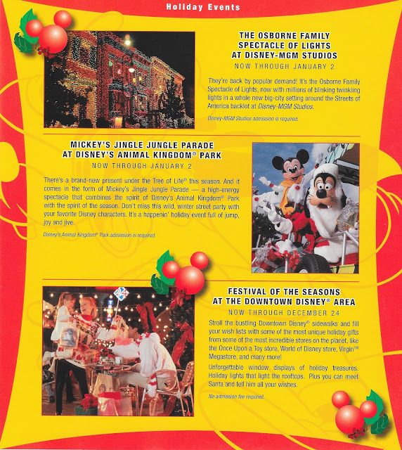 Holiday Events Walt Disney World MGM Animal Kingdom December 2004