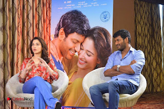 Vishal and Tamannah Stills at Okkadochadu Movie Press Meet  0008.jpg